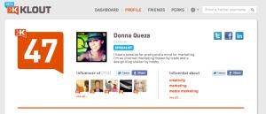 Donna Queza Klout Score