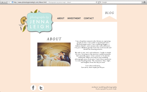 Jenna Leigh Photography Website