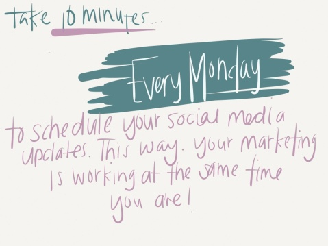 Schedule Social Media Updates - Donna Queza Marketing Optimist